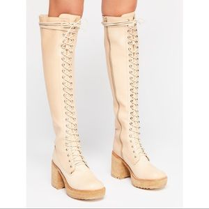 Jeffrey Campbell Haley Over The Knee Combat Boot
